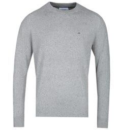 Calvin Klein Cotton Neps Grey Marl Crew Neck Sweater