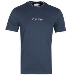 Calvin Klein Carbon Brush Logo Navy T-Shirt