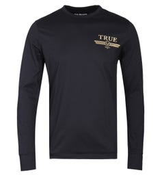 True Religion True Print Back Long Sleeve T-Shirt