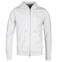 Replay Ecru Logo Zip-Through Hoodie