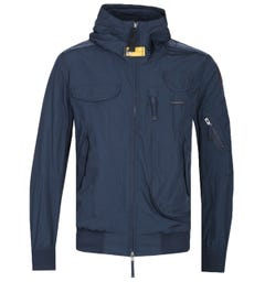 Parajumpers Gobi Dark Navy Hooded Light Bomber Jacket