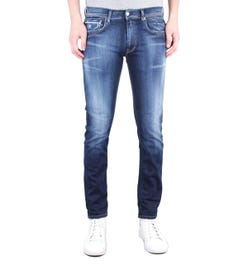 Replay Grover Straight Fit 11.5 Oz Hyperflex Indigo Wash Denim Jeans