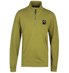 MA.Strum Dark Oasis Green Zip Neck Training Sweatshirt