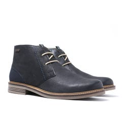 Barbour Navy Readhead Leather Chukka Boots