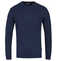 Barbour Cable Knit Navy Sanda Sweater