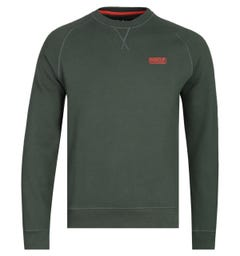 Barbour International Dark Green Essential Crew Sweatshirt