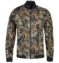 Barbour International Hex Zip-Through Camo Bomber Jacket