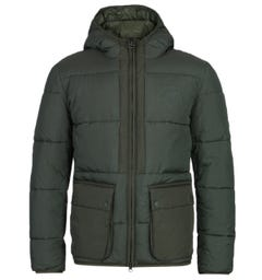 Barbour Beacon Ansah Military Green Quilted Jacket