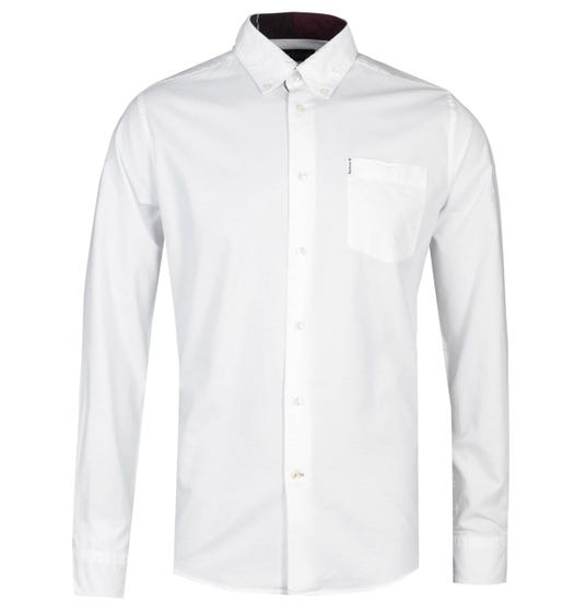 Barbour Aviemore Tailored Fit White Flannel Shirt