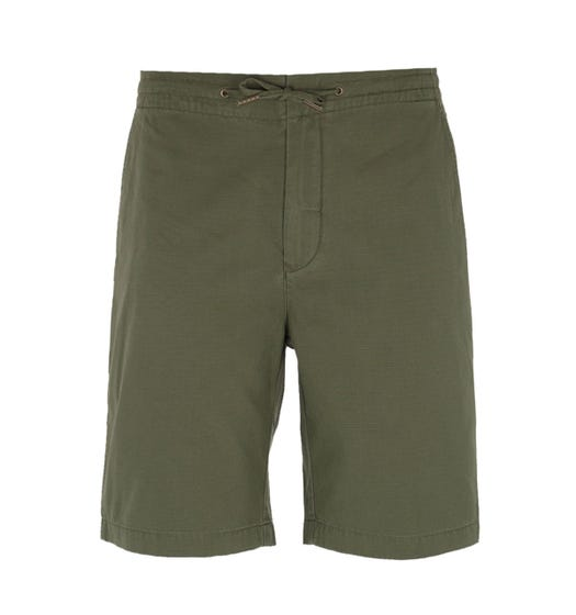 Barbour Bay Military Green Ripstop Shorts