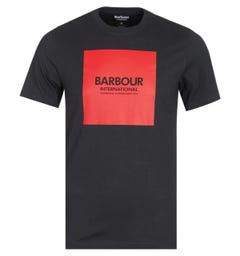 Barbour International Block Logo Black T-Shirt