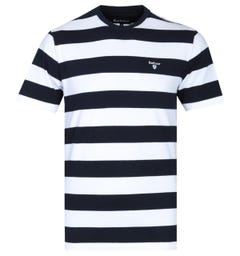 Barbour Tailored Fit Navy Beach Stripe T-Shirt