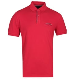 Tommy Hilfiger Regular Fit Red Logo Polo Shirt