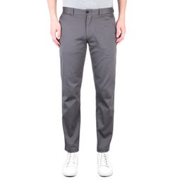 Tommy Hilfiger Tapered Fit TH Flex Charcoal Grey Trousers