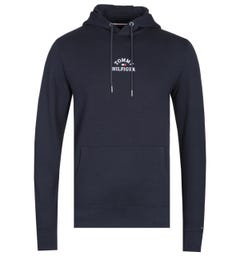 Tommy Hilfiger Embroidered Logo Navy Pullover Hoodie