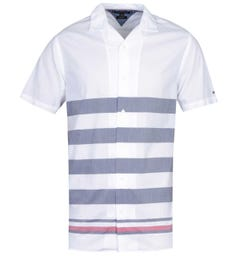 Tommy Hilfiger Regular Fit Breton Stripe White Shirt