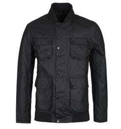 Barbour International Edhill Black Wax Jacket