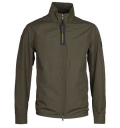 Paul & Shark Zip-Through Military Green Lightweight Jacket