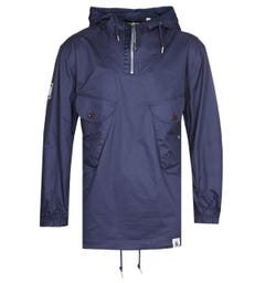 Pretty Green Metal Navy Overhead Jacket