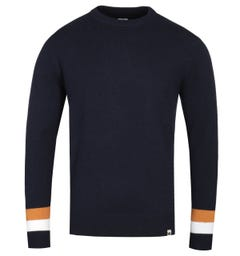 Pretty Green Mcara Crew Neck Navy Knitted Sweater