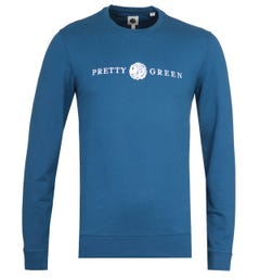 Pretty Green Navy Lincoln Sweatshirt