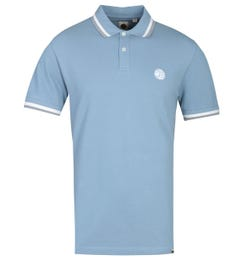Pretty Green Embroidered Badge Light Blue Polo Shirt