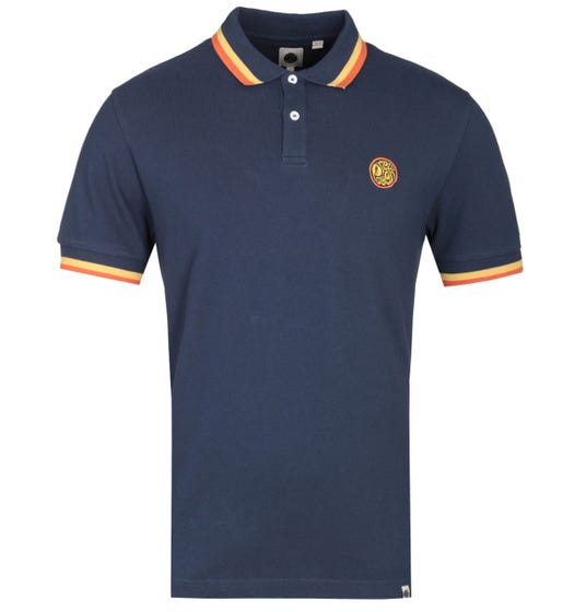 Pretty Green Embroidered Badge Navy Polo Shirt