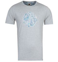 Pretty Green Paisley Marshall Logo Grey T-Shirt