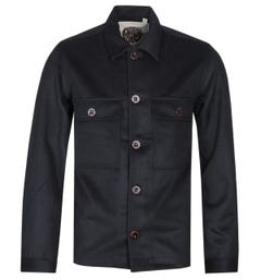 Pretty Green Wool Black Overshirt