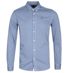 Pretty Green Classic Fit Blue Edward Shirt