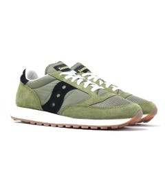 Saucony Jazz Vintage Olive Green Suede Trainers