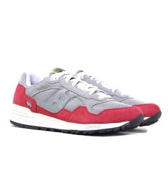Saucony Shadow 5000 Grey & Red Suede Trainers