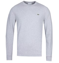 Lacoste Crew Neck Grey Marl Pique Sweater