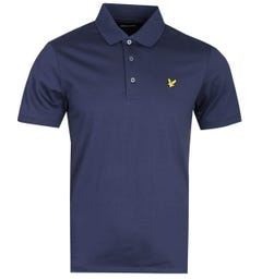 Lyle & Scott Mercerised Jersey Navy Polo Shirt