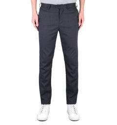 Fred Perry X Miles Kane Tailored Fit Fine Check Charcoal Grey Trousers
