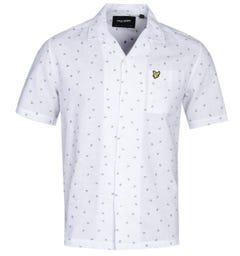 Lyle & Scott Resort Print Short Sleeve White Shirt