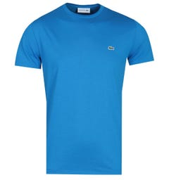 Lacoste Basic Blue Cotton Jersey Short Sleeve T-Shirt