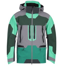 7L 412 Rain Layer Green & Grey Patch Waterproof Jacket