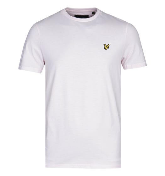 Lyle & Scott Crew Neck Short Sleeve Strawberry Cream Pink T-Shirt