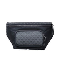 Emporio Armani All-over Eagle Black Bum Bag