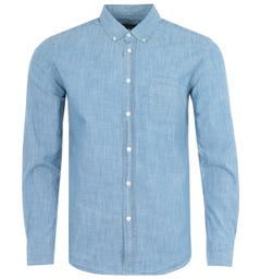 Portuguese Flannel Chambray Shirt - Blue