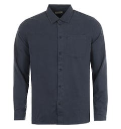 Nudie Jeans Co Fluid Twill Shirt - Navy