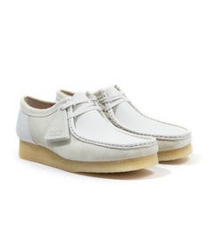 Clarks Originals Wallabee Suede Leather Shoes - White