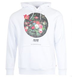 Levi's Graphic Organic Cotton Relaxed Fit Hooded Sweatshirt - White