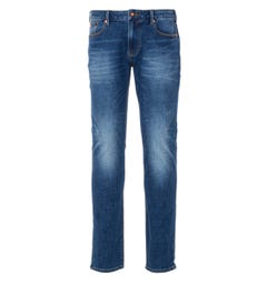 Emporio Armani J06 Slim Fit Jeans - Washed Blue Mid