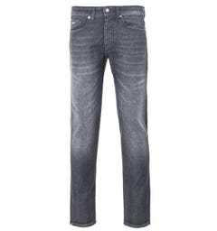 BOSS Taber Super Stretch Tapered Fit Jeans - Washed Black