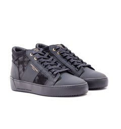 Android Homme Propulsion Mid Gomma Leather Camo Suede Black Trainers