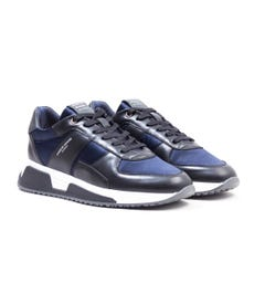 Android Homme Matador Black Ink Nylon Leather Trainers