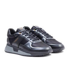 Android Homme Matador Black Nylon Leather Trainers