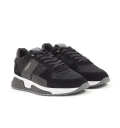 Android Homme Matador Flocked Viper Trainers - Obsidian Black